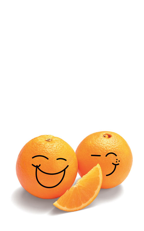 Smiling Happy Food Oranges