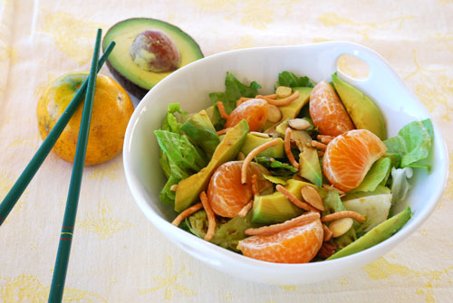 asian salad and dressing